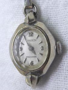 【送料無料】vintage womens gruen precision wristwatch 10k rgp bezel as found