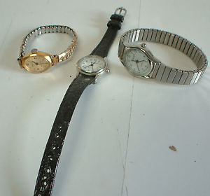 【送料無料】ladies wristwatches set of 3