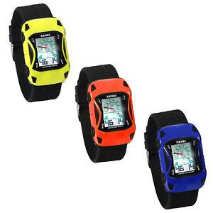 【送料無料】kids boys cartoon car shaped multifunction waterproof digital wrist watch gift