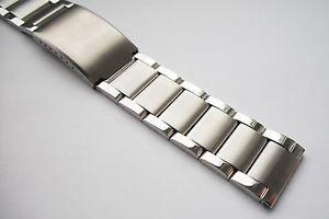 【送料無料】3 bar link stainless steel watch bracelet satinpolished finish 20, 22 or 24mm