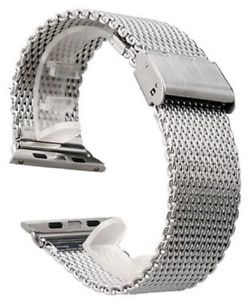 【送料無料】18 mm lug shark mesh silver stainless steel watch strap milanese uk 18mm w18