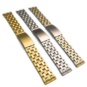 【送料無料】stainless steel folding deployment watch bracelet 20mm 22mm 3 colours c043