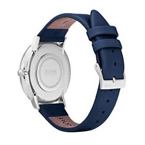 hugo boss 1502410 womens jillian classic blue strap crystal watch