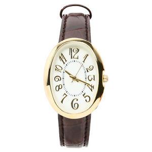 【送料無料】merona womens leather brown watch