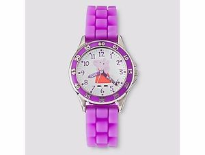 【送料無料】kids peppa pig time teacher watch purple