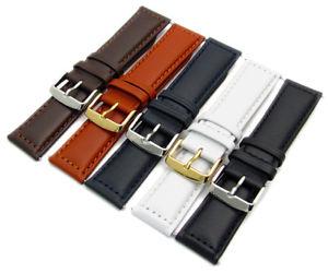 【送料無料】modena excellent mens padded stitched leather watch strap 18mm 30mm c064