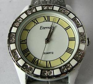 【送料無料】eternity ladies quartz watch with leather bracelet