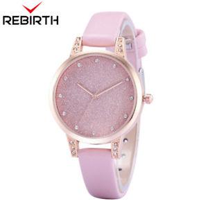 【送料無料】ladies wristwatch bracelet quartz casual scratch gift her rebirth brand classic