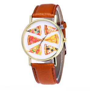【送料無料】pizza i love pasta italy chef quartz wrist watch