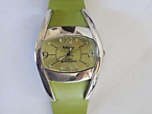 【送料無料】adrina womens quartz wrist watch green