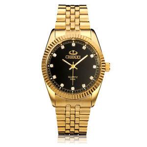 【送料無料】chenxi cx004a crystal gold stainless steel waterproof quartz watch