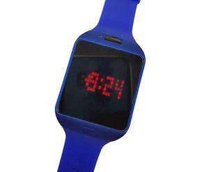【送料無料】ds orologio da polso touch led watch orario rosso fashion moda blu lac