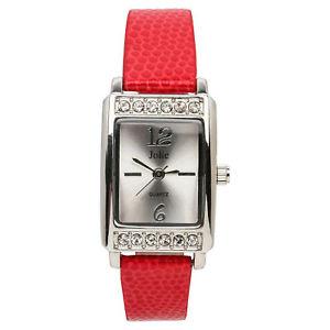 【送料無料】jolie womens leather red watch