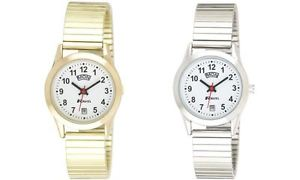 【送料無料】ravel ladies daydate goldensilver expandable bracelet strap watch r0706192ex