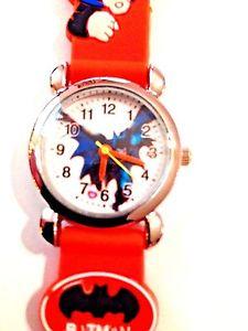 【送料無料】 orange batman boys silicone 3d wristwatch