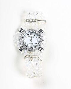 【送料無料】stunning clear crystal watch