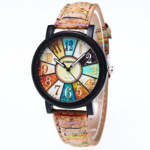 【送料無料】art i love color painting school oil quartz wrist watch