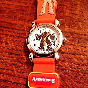 【送料無料】 orange transformers boys silicone wristwatch