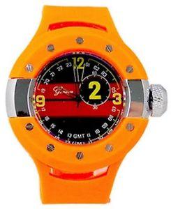【送料無料】 orange oversized luxury mens geneva metal watch fashion designer