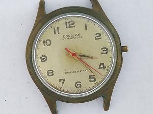【送料無料】vintage hampden douglas 7j wind up wristwatch 3361
