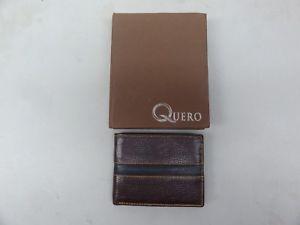 【送料無料】real nice luxe leather wallet by quero brown bifold hand crafted natural