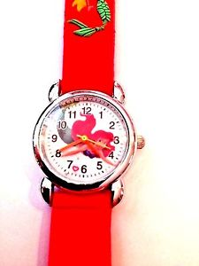 【送料無料】 red little mermaid girls silicone watch 3d