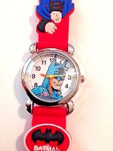 【送料無料】 red batman boys silicone 3d wristwatch