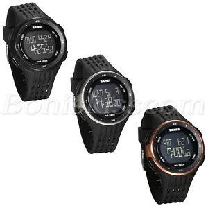 【送料無料】students fashion sports two time zones countdown timer digital led wrist watch