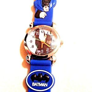 【送料無料】 blue batman boys silicone wristwatch