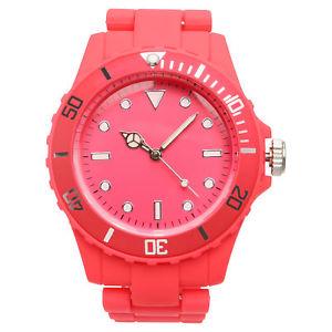 【送料無料】xhilaration womens round bracelet watch hot pink