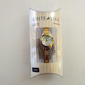 【送料無料】white stag womens gold and silver tone wristwatch