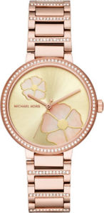 michael kors women courtney rose goldtone watch mk3836 nwt