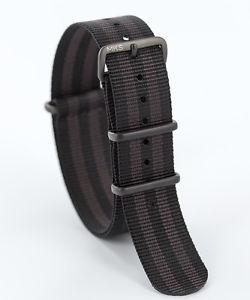 【送料無料】monkeyswag nato nylon military wtach strap 18 20 22mm mattepvd