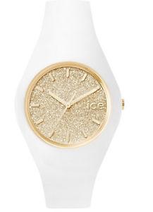 【送料無料】ice watch ice watch glitter white gold small icegtwgdss15 analog silikon w