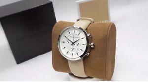 【送料無料】michael kors mk2564 womens silver tone leather kyler chronograph wrist watch