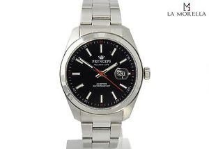 【送料無料】pryngeps a1034 nero orologio uomo in acciaio nuovo con garanzia 24 mesi