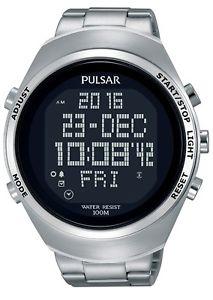 【送料無料】pulsar mens chronograph stainless steel strap digital watch pq2055x1 rpp 140