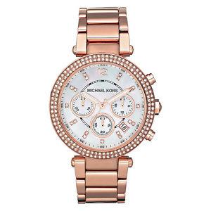 【送料無料】michael kors mk5491 rose gold parker designer watch rrp 229
