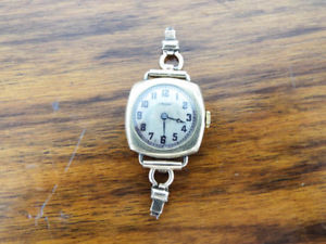 【送料無料】vintage 1920s gruen cushion wrist watch prohibition wisconsin anti saloon league