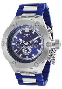 【送料無料】 mens invicta 19233 corduba polyurethane blue bracelet watch