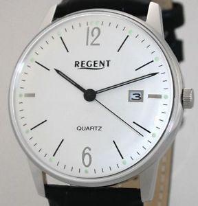 regent steel retro design quartz herrenuhr uvp 99,00 eur datum neu