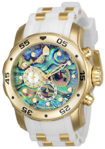 【送料無料】24840 invicta 48mm mens yellow steel amp; polyurethane strap watch
