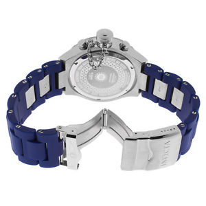 mens invicta 19233 corduba polyurethane blue bracelet watch
