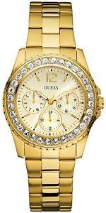 【送料無料】 guess ss gold chilly chill lady watch swarovski date day bracelet u12005l1