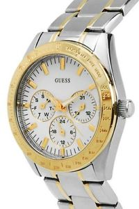 【送料無料】 guess chase 2 two tone gold ss silver bracelet lady watch u12004l1 day date
