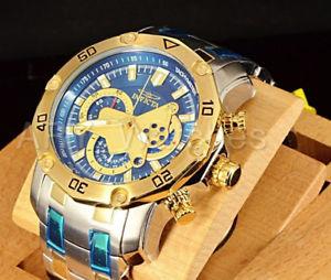 【送料無料】 invicta 48mm prodiver scuba 30 quartz chronograph 18k two tone watch 22762