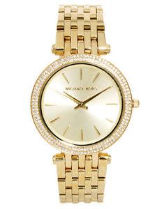 【送料無料】michael kors mk3191 ladies darci gold tone stainless steel designer watch