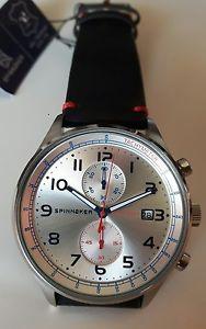 orologio uomo chrono,spinnaker,doppio cinturino pelle e modello nato,cronografo