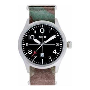 【送料無料】orologio uomo cinturino avi8 flyboy av4028setb01 pelle camouflage tessuto