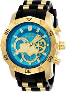 【送料無料】invicta mens pro diver chronograph 100m stainless steel two toned watch 23426